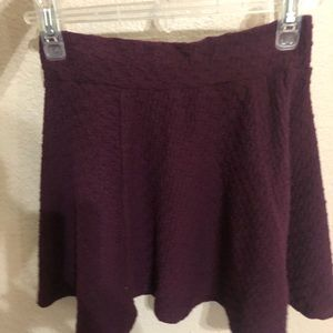 Deep burgundy/purple wine colored skirt from H&M